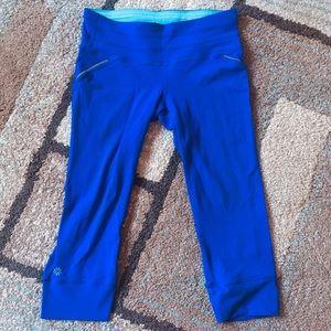 Athleta blue capris leggings